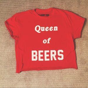 The Laundry Room 'Queen of Beers' crop top 🤓